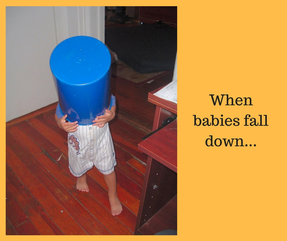 Toddlers fall...